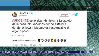 Detienen Leopoldo López Denunció Lilian Tintori
