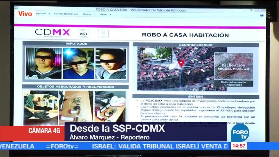Detienen Ladrones Casa-Habitacion Cdmx Autoridades Capitalinas Miguel Hidalgo