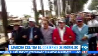 Marchan Contra Gobernador Morelos Graco Ramirez Caravana