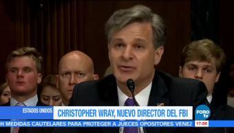 Christopher Wray Nuevo Director Fbi Senado De Estados Unidos Presidente Donald Trump