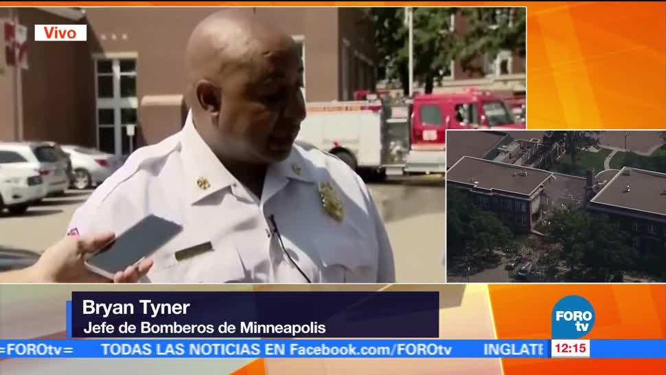 Jefe, bomberos, Minneapolis, explosión