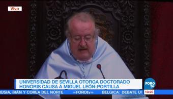 Universidad Sevilla Honoris Miguel Leon Portilla