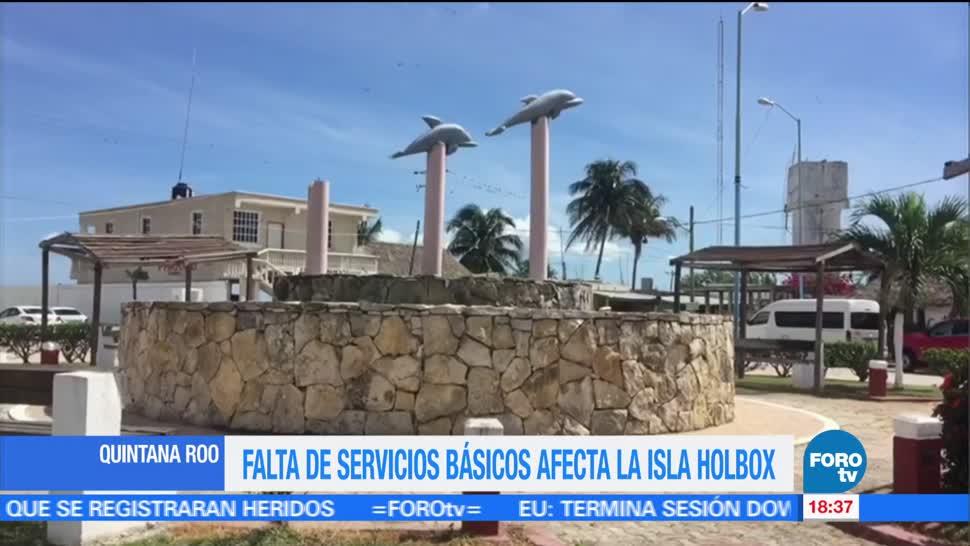 Isla Holbox servicios básicos Quintana Roo