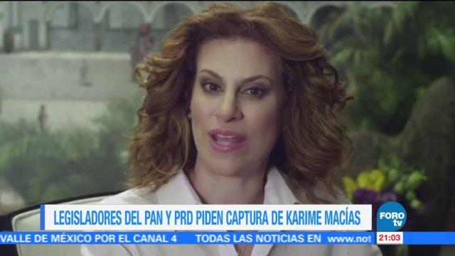 Legisladores piden captura de Karime Macías
