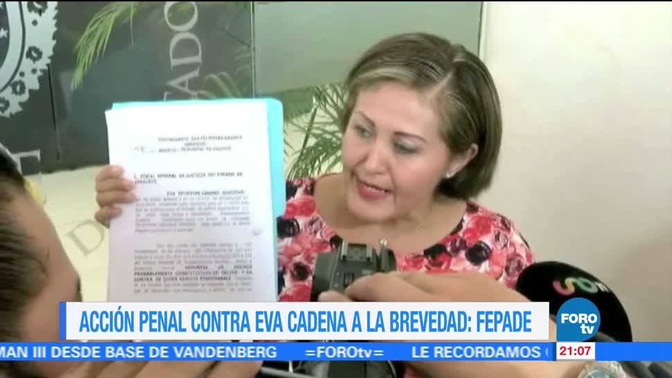 Acción penal contra Eva Cadena: Fepade