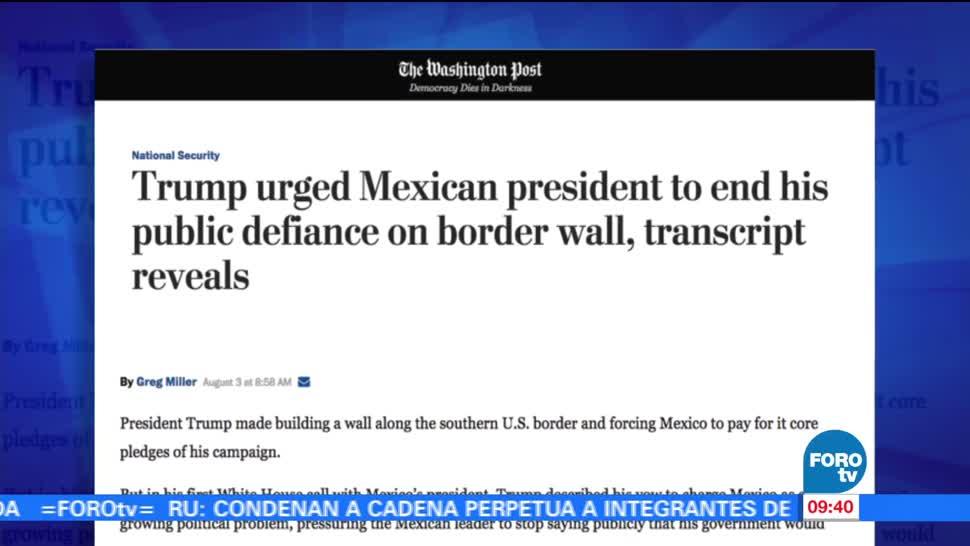 Washington Post, Trump, EPN, México