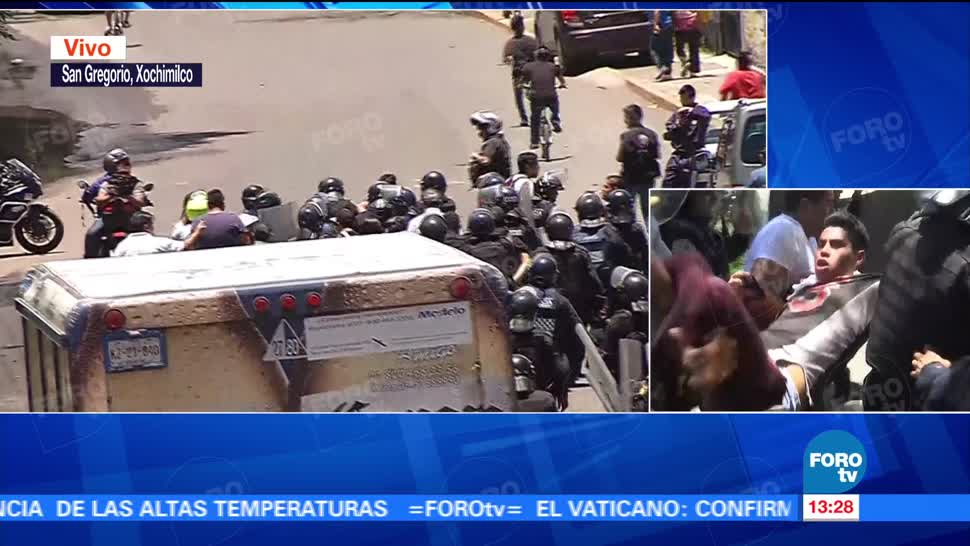 Nuevo enfrentamiento entre policías y mototaxistas en Xochimilco