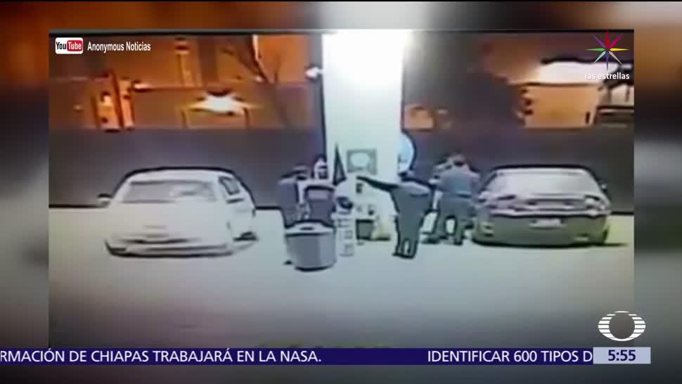 Policia Tijuana Frustra Asalto Gasolinera Ladrones Huyen