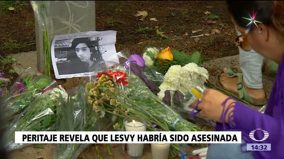 Nuevo peritaje descarta suicidó de Lesvy