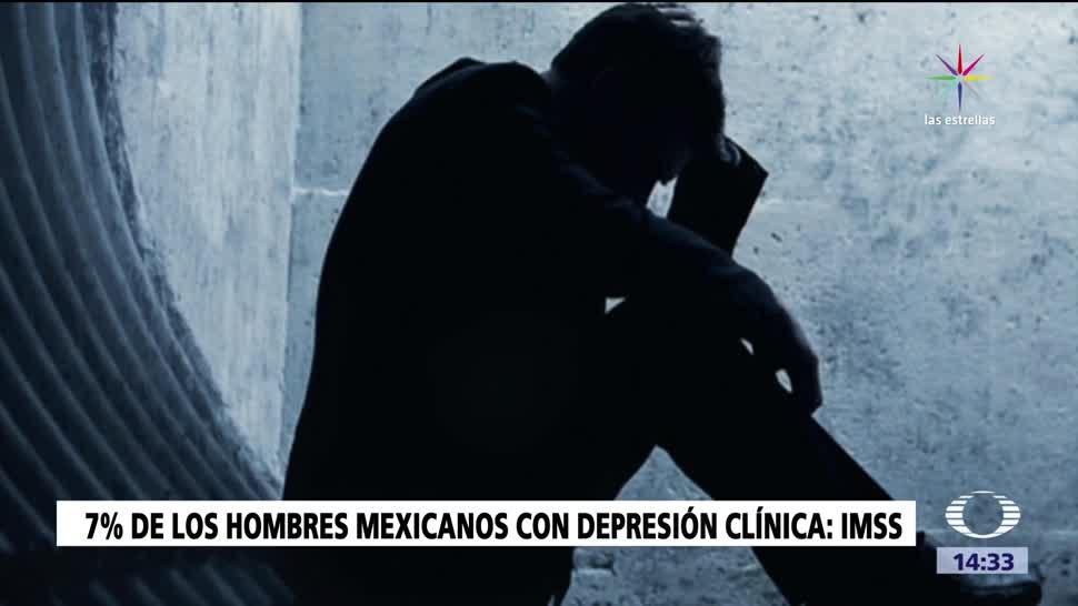 Hombres mexicanos con problemas de depresión