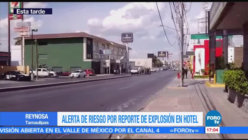 Investigan explosión en hotel de Reynosa