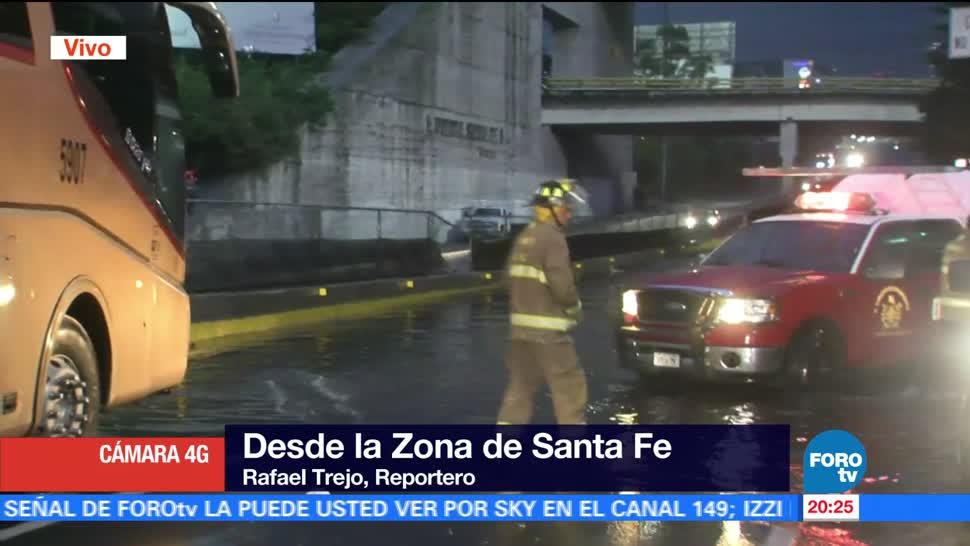 Lluvia y encharcamientos afecta zona de Santa Fe