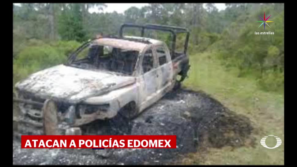 Talamontes atacan a policías en el Edomex