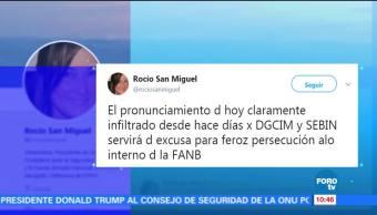 Denuncia, analista, venezolana, sublevación