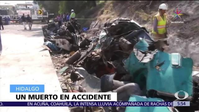 Choque múltiple, autopista, México Querétaro, muerto