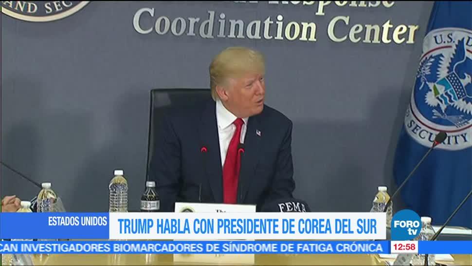 Trump Conversación Presidente Corea del Sur