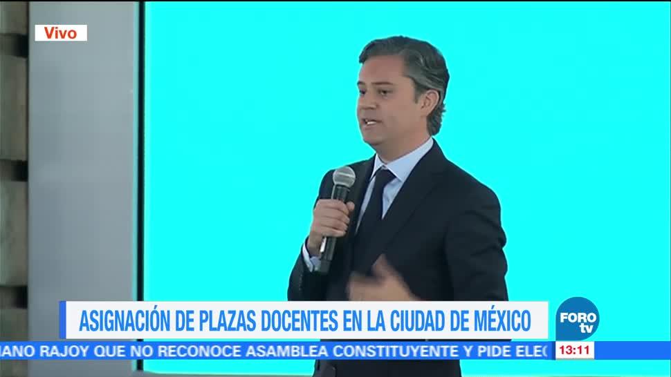 Encabeza Ceremonia Asignacion Plazas Docentes Cdmx Aurelio Nuño Secretario De Educacion Publica