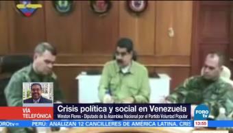 Diputado Winston Flores Crisis Politica Social Venezuela