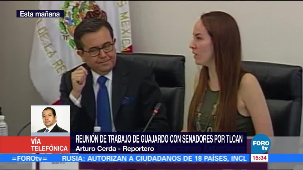 Guajardo Reune Senadores TLCAN Secretario Economia Ildefonso Guajardo