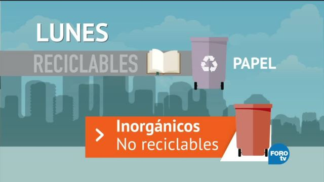 Recoleccion Basura CDMX Lunes Camion De Basura Inorganicos Reciclables Inorganicos No Reciclables