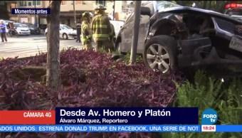 Aparatoso Accidente Autos Polanco Automoviles Personas Lesionadas