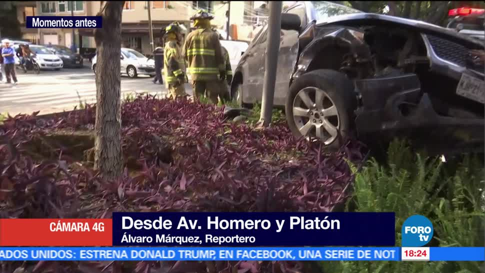 Aparatoso Accidente Autos Polanco Automoviles Personas Lesionadas