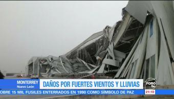 Daños por lluvias en Nuevo León