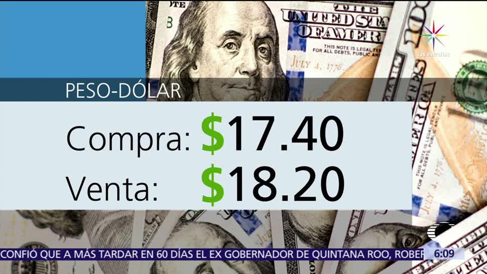 dólar, se, vende, $18.20