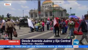 Manifestación afecta avenida Juárez y el Eje Central en la CDMX