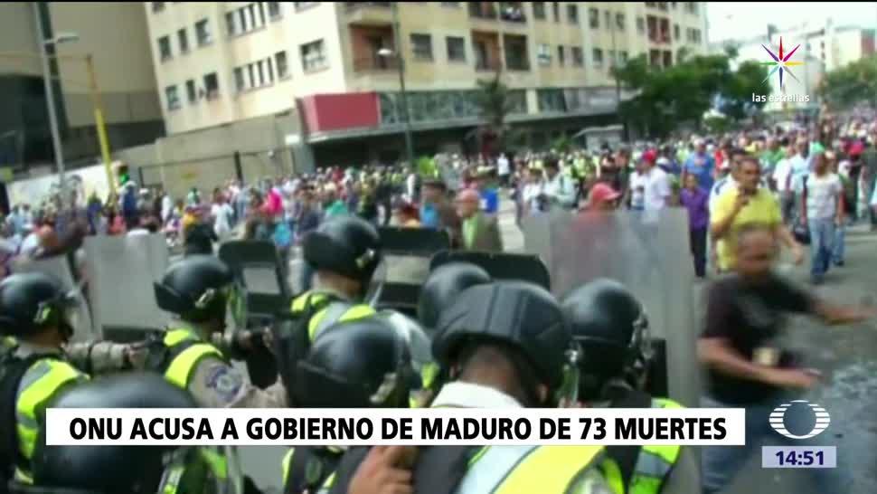 ONU denuncia fuerza excesiva en Venezuela