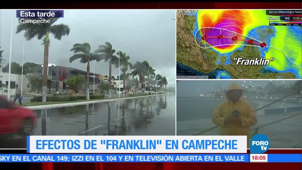 Efectos del paso de Franklin por Campeche