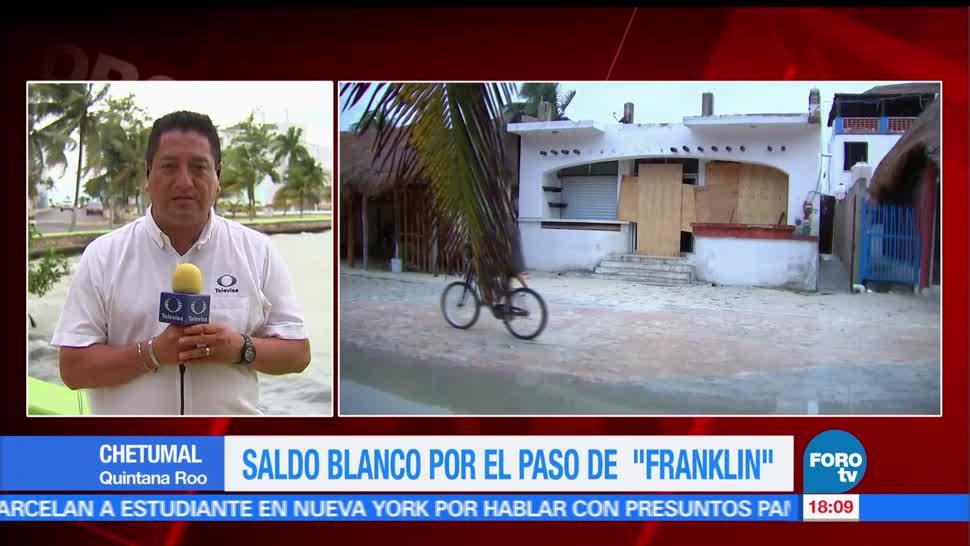 Quintana Roo retoma actividades tras paso de Franklin