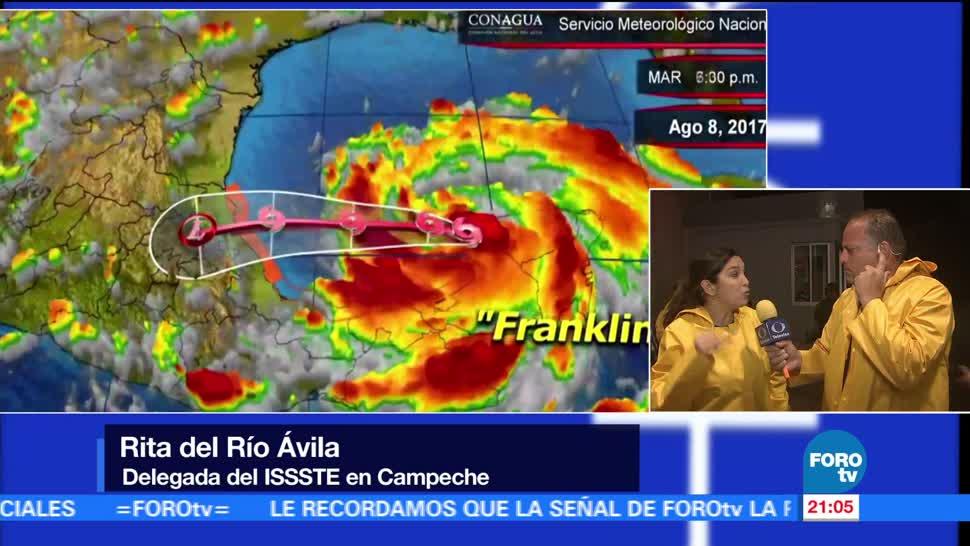 Balance tormenta tropical Franklin por Campeche