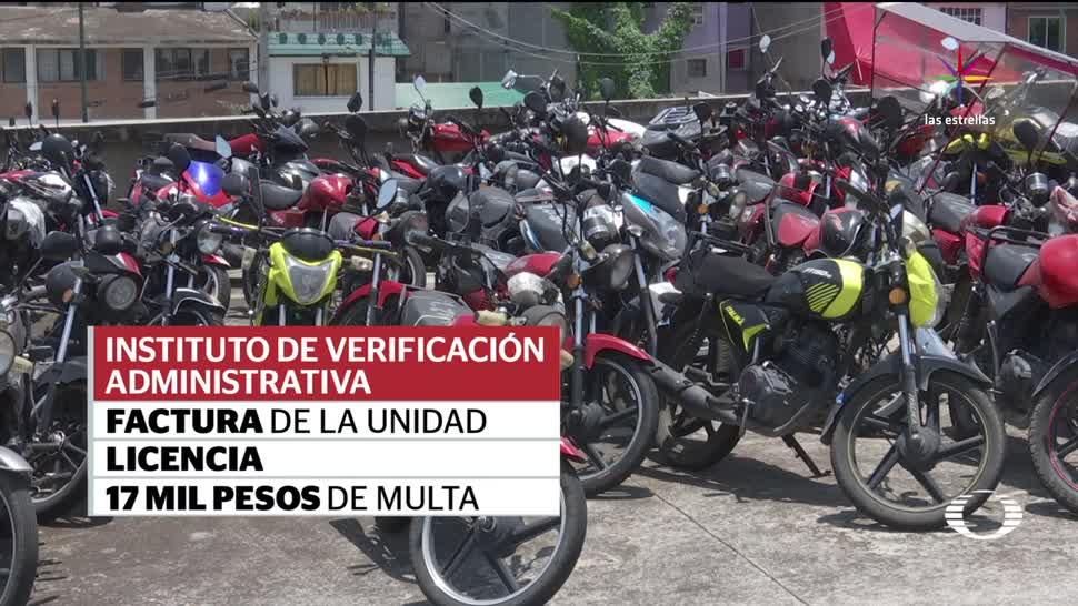 Corralones de la CDMX acumulan mototaxis