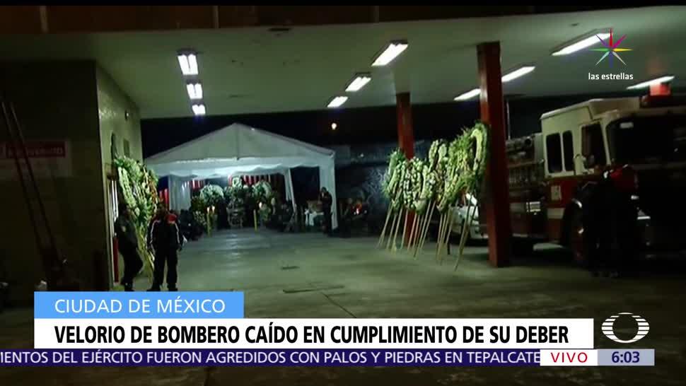 Velan Bombero Cayó CDMX