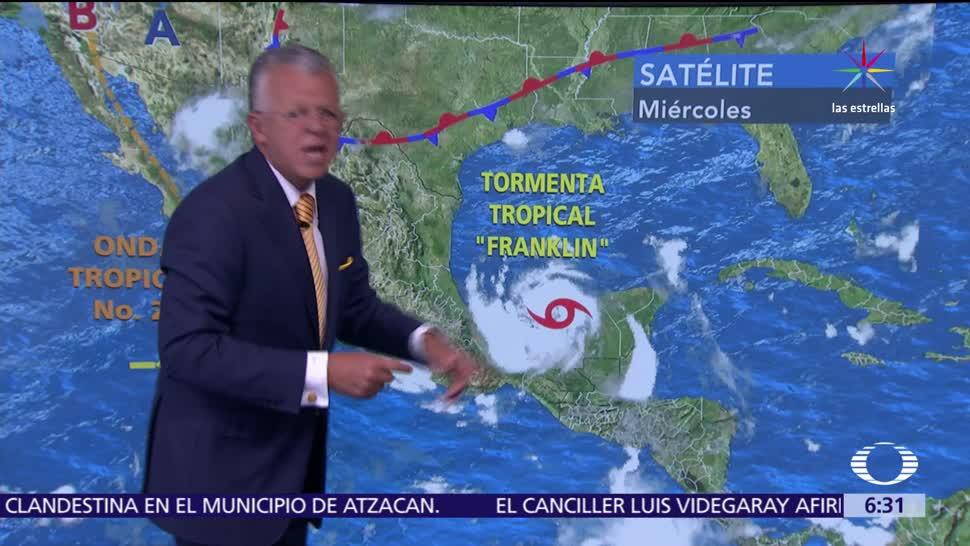 'Franklin', provocará, tormentas, Veracruz