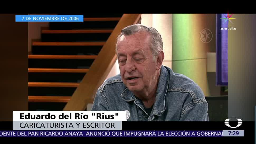 Recordamos a Rius en su entrevista con Carlos Loret de Mola