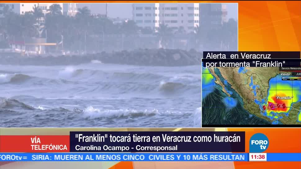 Franklin, tocará, tierra, Veracruz