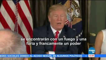 Trump Endurece Discurso Corea del Norte