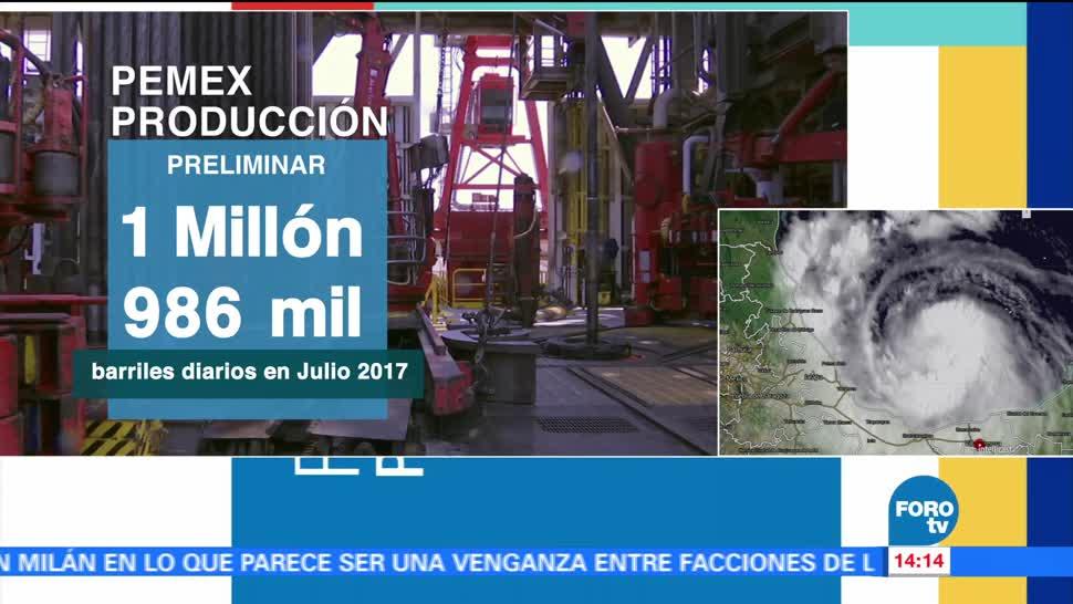 Producción petróleo Pemex baja en Julio