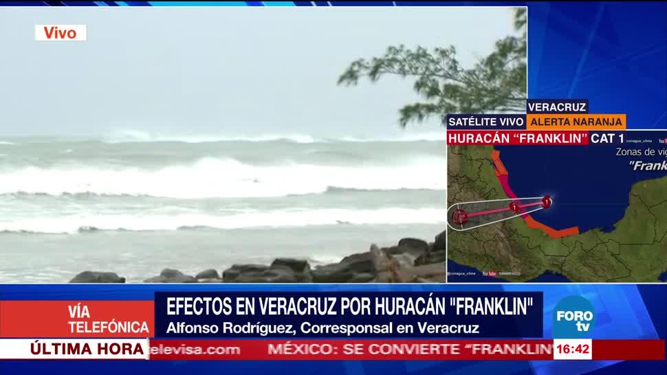 Se recienten efectos huracán Franklin Veracruz