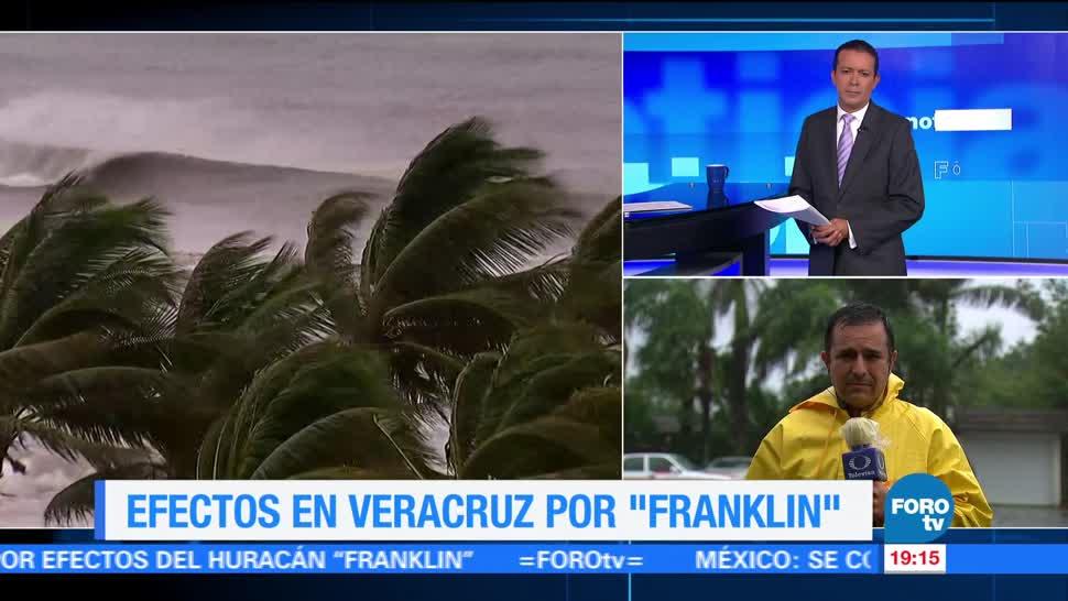 En Veracruz, 90 municipios en riesgo por 'Franklin'