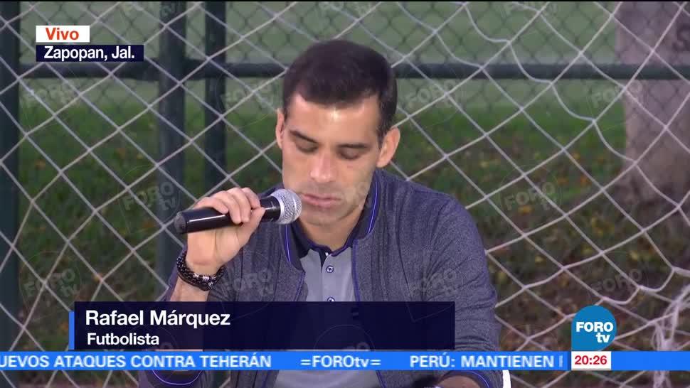 Rafa Márquez ofrece mensaje a medios