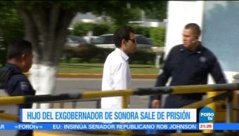 Hijo del exgobernador de Sonora sale de prisión