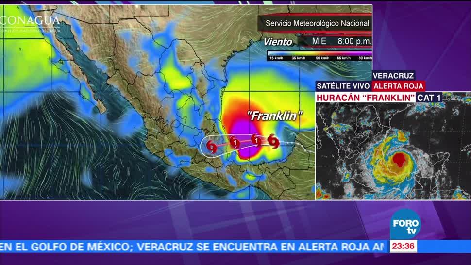Huracán 'Franklin' se acerca a Veracruz