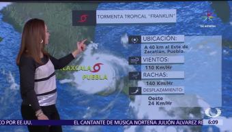 Huracán Franklin Debilita Tormenta tropical