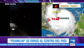 Franklin, debilita, tormenta, tropical
