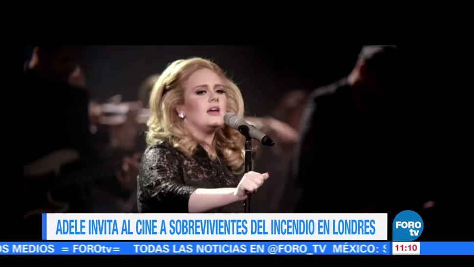 Adele, invita, cine, niños