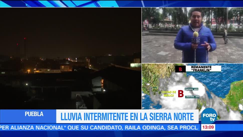 Lluvias intermitentes sierra norte de Puebla