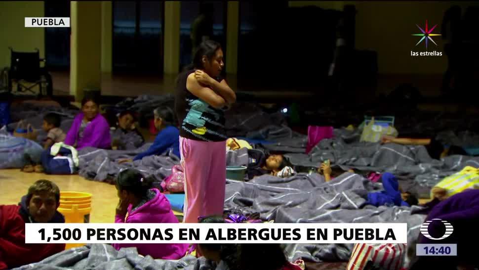 Los remanentes Franklin afectan a Puebla